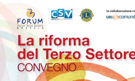 Convegno La riforma del Terzo Settore