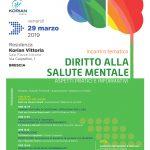 29 marzo 2019 incontro tematico DIRITTO ALLA SALUTE MENTALE