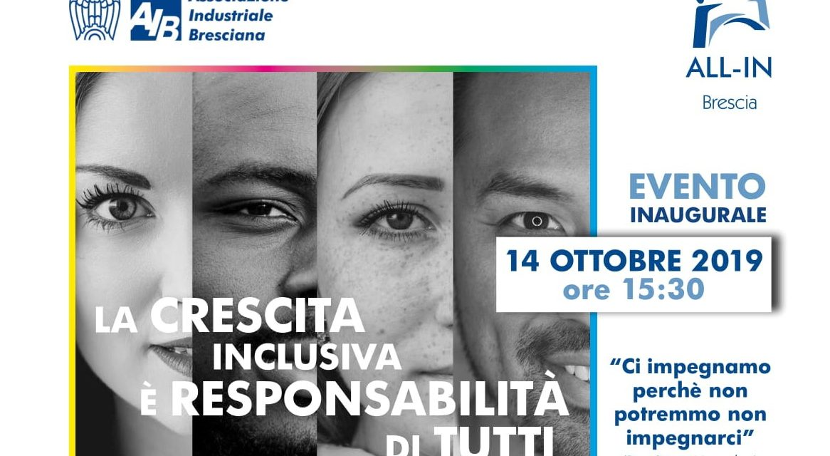 14.10.19 Evento inaugurale ALL-IN La crescita inclusiva è responsabilità di tutti